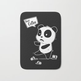 Coffee Panda Caffeine Addicts Java Lovers Bath Mat