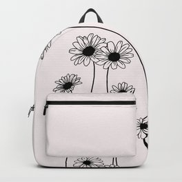 Daisy flowers illustration - Natural Backpack