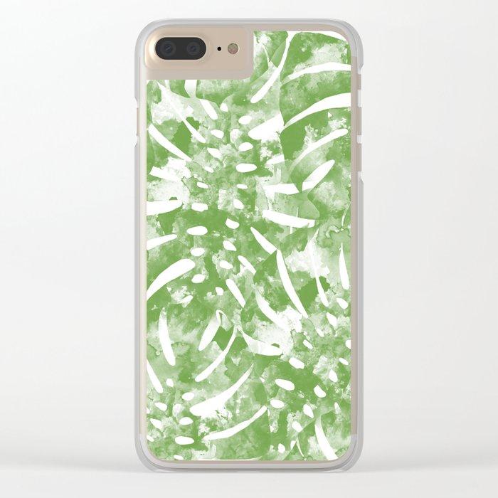 Monstera Jungle Clear iPhone Case
