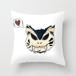 Blue Saber Loves your Face Throw Pillow