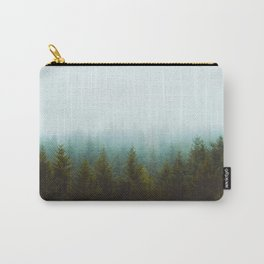 Landscape Pine Forest Green Evergreen Trees Minimalist Simple Landscape Carry-All Pouch