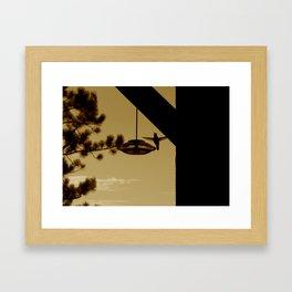 Hummingbird Silhouette  Framed Art Print