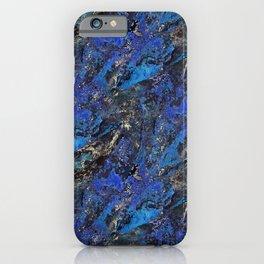 Precious Lapis Lazuli Stone Mineral Blue Gold iPhone Case