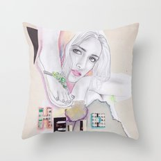 Hello, beautiful! Throw Pillow