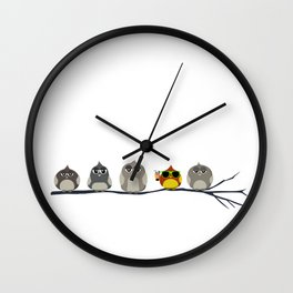 Too cool for the birds Wall Clock