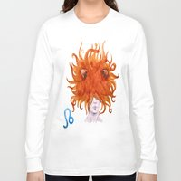 leo Long Sleeve T-shirts featuring Leo by Aloke Design