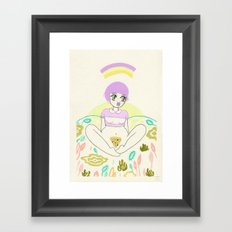 Pizza Slut Framed Art Print