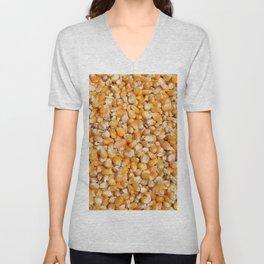 corn cereals yellow background pattern Unisex V-Neck