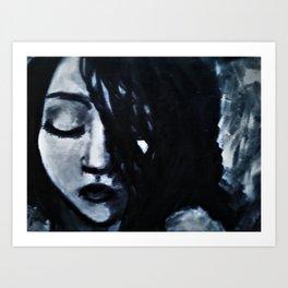 Monochrome (black and white portrait) Art Print