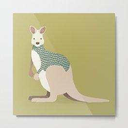 Whimsical Kangaroo Metal Print