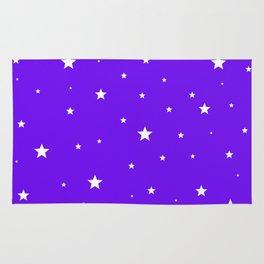 Scattered Stars on Modern Indigo Rug