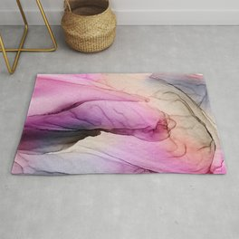 Enchanted 2 - abstract alcohol ink  Rug