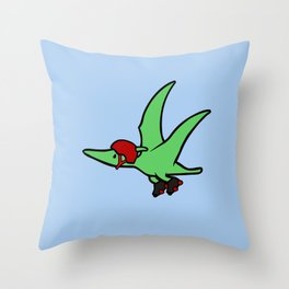 Roller Derby Pterodactyl Throw Pillow