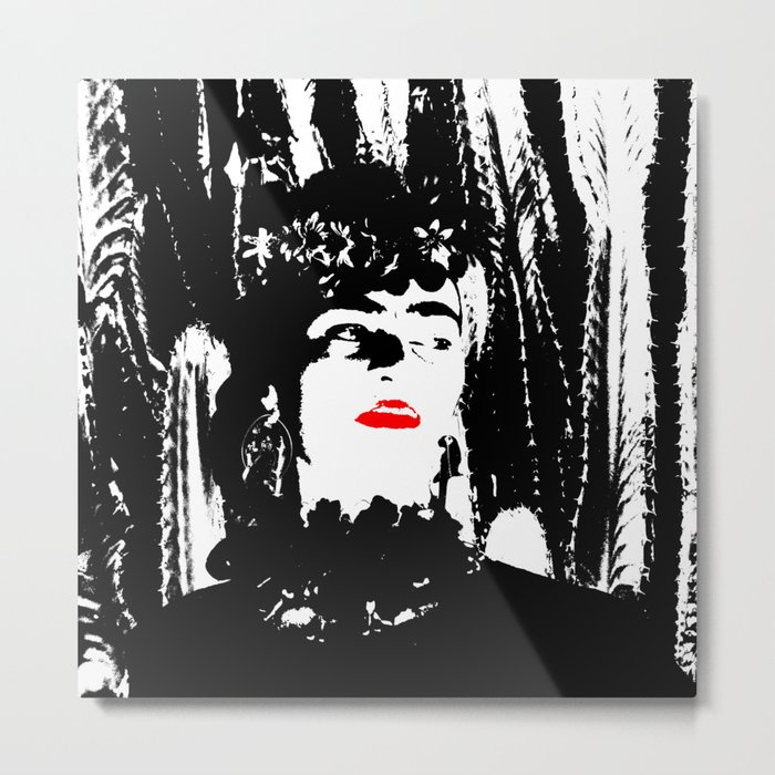 Freeda my Frida Black and White Metal Print
