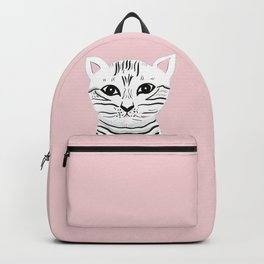 Baby Cat on Blush #1 (Kids Collection) #animal #decor #art #society6 Backpack