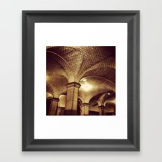 Downtown Subway Station, NYC Framed Art Print