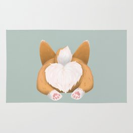 Somebunny loves you / Corgi Butt Rug
