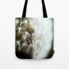 Black and white Dandelion Tote Bag