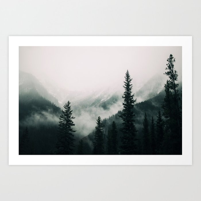 Over the Mountains and trough the Woods -  Forest Nature Photography Kunstdrucke
