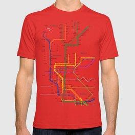 New York City subway map T-shirt