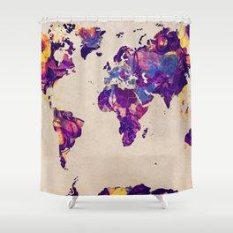 world map 20 Shower Curtain