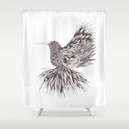 Zentangle Hummingbird Shower Curtain