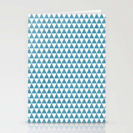 triangles - folk blue and white Stationery Cards