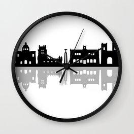 lisbon skyline Wall Clock