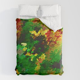 Emerald Forms Abstract Comforters