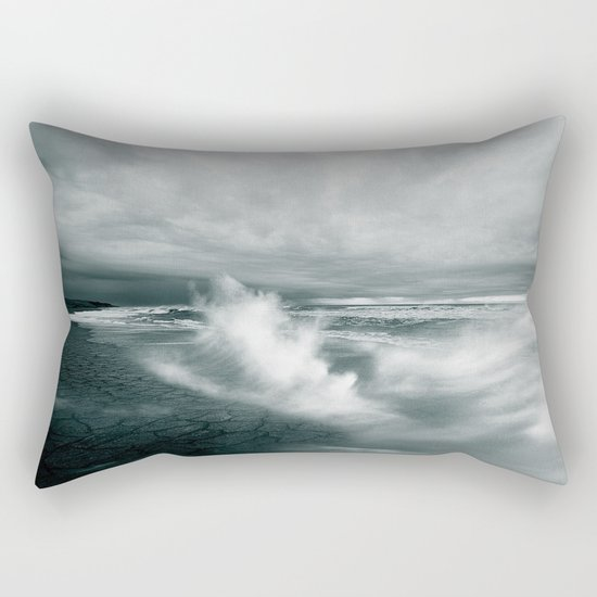 sea waves water Rectangular Pillow