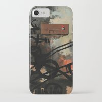 chad wys iPhone & iPod Cases featuring Dog Walker (A collaboration by Chad, Gabi, and Emily Beroth) by Chad Beroth