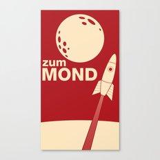 Zum Mond Canvas Print