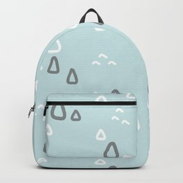 Hand painted blush teal gray white geometric pattern Backpack