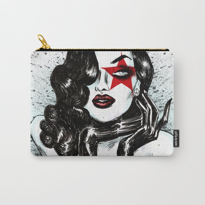 Lady Of The Roses Carry-All Pouch