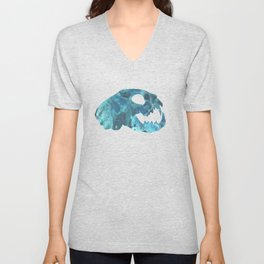 Cat Skull Art Unisex V-Neck