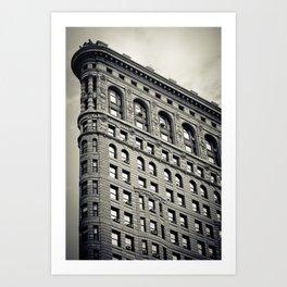 New York: Flatiron B&W Art Print