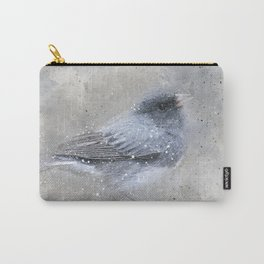 Dark Eyed Junco Bird Carry-All Pouch