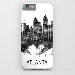 Atlanta Georgia Skyline BW iPhone Case