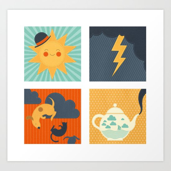 Weather Art Print