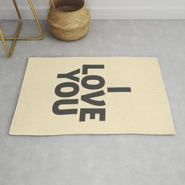 I love you, motivational quote, woman gift, gift for couples, love quotes Rug
