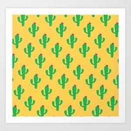 Pattern #13 B: Cactus Art Print