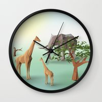 africa Wall Clocks featuring Africa by CharismArt