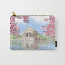 Cherry Blossom - Jefferson Memorial Carry-All Pouch