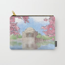 Cherry Blossom - Jefferson Memorial Carry-All Pouch