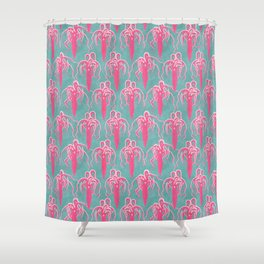 giant squid Shower Curtain