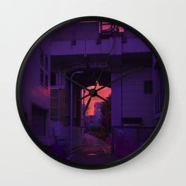 Tokyo Sunset's Gate Wall Clock