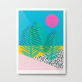 Mondo - 80's retro throwback memphis art print 1990's millennium gen x generation y dots grid  Metal Print