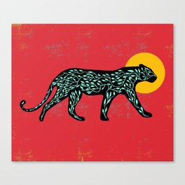 Black cheetah Canvas Print