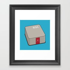 Escape Key Framed Art Print