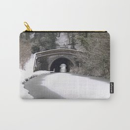 Snowing on the canal Carry-All Pouch